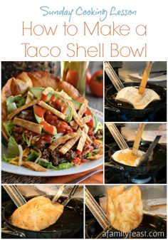 How to Make a Taco Shell Bowl - It's easy to make a taco shell bowl at home - just like you'd see at a restaurant! Great for Taco Salads.
