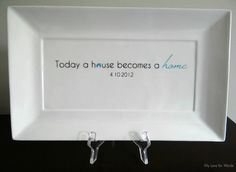 Custom Signature Platter Great Housewarming Gift. Can be customized to say whatever you'd like!