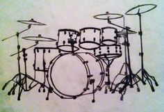 This piece will be my next tattoo. Getting this drumset on my chest, because drumming is the closest thing I have to my heart (haha so cheesy)