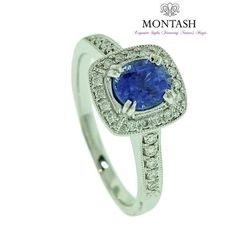 The #blue #sapphire comes in hues from rich royal blue to crisp cornflower blue! #montashjewellerydesign