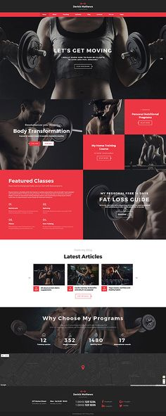 Derick Mathews - Personal Trainer Multipage Website Template