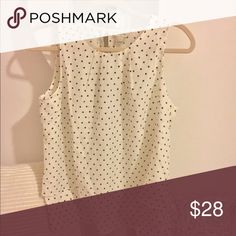J.Crew brand new blouse Ivory and black polka dot blouse, brand new with tags! Great for business attire too J. Crew Tops Blouses