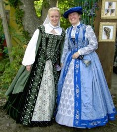 Blue Silk Renaissance Gown