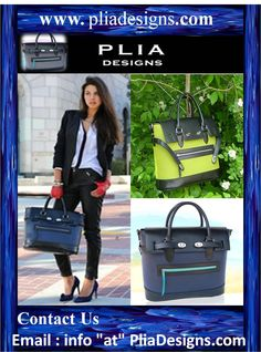 PLIA Designs takes enormous pride in the quality of the premier designer handbags, totes and leather goods that they create. They are superbly handcrafted in intricate detail to the highest standard | http://www.pliadesigns.com/