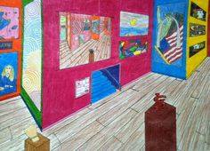 2-point perspective gallery (8th grade)
