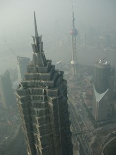 Jin Mao Tower and Oriental Pearl Tower in Shanghai - China. They make for an amazing skyline!!! One of my favorites!