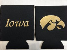 Nebraska or Iowa Can Koozies made with glitter by MoreThanGlitz, $10.00