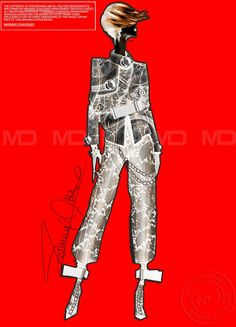 'MD' Massimo D'ascenzo  New sketch ! Victorian/Punk interpretation in fabrics and details!