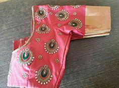 To order pls what's app on 9492991857 Simple Blouse Designs, Saree Blouse Neck Designs, Bridal Blouse Designs, Designer Blouse Patterns, Blouse Models, Work Blouse, Indian Designer Wear, Sarees, Fashion Design