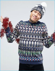 mens christmas sweaters asos holiday 2016