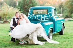 pacific northwest wedding classic wedding truck