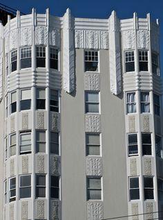 Detail of Allen Arms Apartments, San Francisco