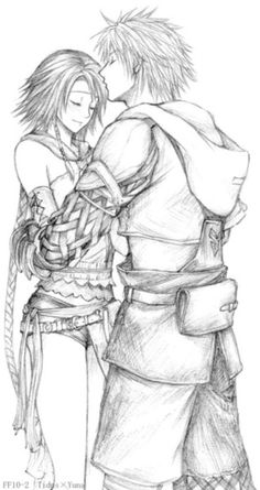 Tidus and Yuna - Final Fantasy X.\ OMG I cannot wait for the HD release in December!