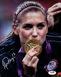 This is a 8x10 Photo that has been hand signed by Alex Morgan. It has been certified authentic by PSA/DNA and comes with their sticker and matching certificate of authenticity.