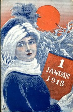 Nyttårskort Andreas Bloch. 1 januar 1913. Utg M Co stemplet 1912 Movies, Movie Posters, Art, January, Kunst, Art Background, Films, Film Poster, Cinema