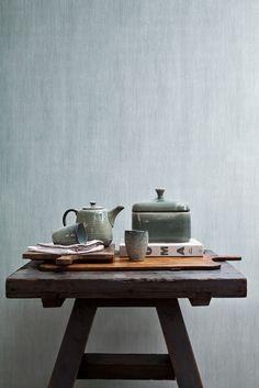 Wallpaper Camarque blue / Behang Camarque blauw - BN Wallcoverings