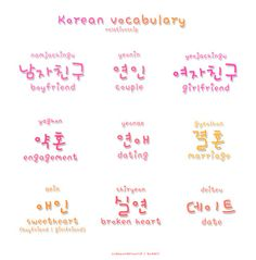 ❋learn korean - relationship❋