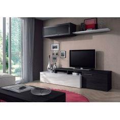Nexus mueble salon tv blanco/ceniza