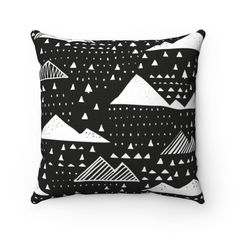 Natural Black and White Clouds Throw Pillow - 18 × 18