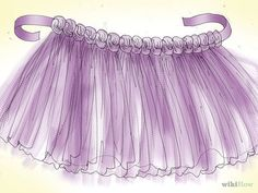How to Make a Tulle Tutu. Whether you're an aspiring ballet dancer or just want to pretend to be one for Halloween, this article will show you how to make your own voluminous tutu from tulle. Get your tulle. Being so sheer, a lot of tulle. Diy Robe Tulle, Tutu Diy, Tutu En Tulle, Diy Tutu Skirt, No Sew Tutu, Jupe Halloween, Tutu Sans Couture, New Baby Dress, How To Make Tutu