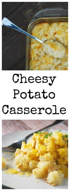This cheesy potato casserole is the perfect holiday meal side dish, and great for potlucks, too!