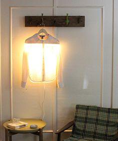 step by step Photo tutorial - Bildanleitung - Como hacer una lampara con una percha introd