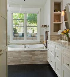 soaker tub under window