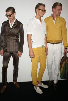 Backstage at Gucci Men's RTW Spring 2013