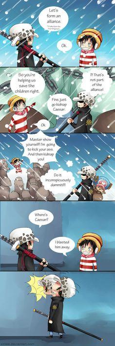 Blasted him away/Law,Luffy/One piece