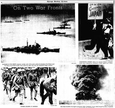 On Two War Fronts.  ※9/5/1937,Chicago Tribune (War in China) (Spanish civil war)