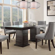 HomeVance Graford Extendable Dining Table Brown