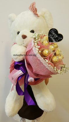 """See 1 photo and 1 tip from 8 visitors to Milan Florist. """"Proffesional Flower Stylist ,Wrapping & Design Excellent Flower Bouquet, Alot Flower from. Flower Box Gift, Flower Boxes, Chocolates, Graduation Flowers, Chocolate Flowers Bouquet, Gift Bouquet, Flower Ball, Family Gifts, Valentine Gifts"""