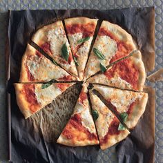 Review of Pizza Margherita from Epicurious: amazing!! The crust was so easy and the sauce was really delicious.