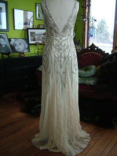 1930S Wedding Dresses | ... & 1930s Goddess » Beaded deco Vines 1920s style Wedding Dress