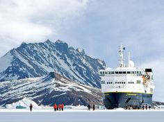 """Readers' Rating: 82.760This fleet of ten small ships—passenger capacity ranges from 28 to 148—sails to rugged destinations like Arctic Svalbard, Antarctica, Indonesia, and the Galápagos. """"Going on a cruise with Lindblad is about the adventure, not about luxury,"""" so expect small, simple cabins but plenty of memorable excursions, such as snorkeling in Borneo and hiking through a Patagonia ice field."""