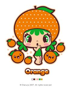 I ❤️ Kawaii and soo orange funny!