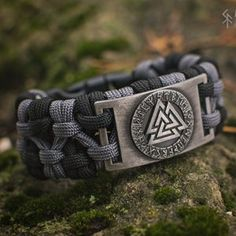 Norn's Thread Paracord bracelet with Rune and original | Etsy Thors Hammer, Paracord Bracelets, Bracelets For Men, Runic Compass, Viking Bracelet, Bracelet Men, Bracelet Crafts, Elder Futhark Runes, Cobra Weave