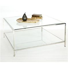 Worlds Away Rollo Round Nickel Coffee Table from GlamFurniture