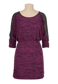 Chiffon Shoulder Spacedye Dolman Dress (original price, $44) available at #Maurices