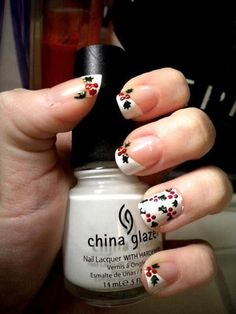 A manicure is a cosmetic elegance therapy for the finger nails and hands. A manicure could deal with just the hands, just the nails, or Fancy Nails, Love Nails, How To Do Nails, Pretty Nails, Gorgeous Nails, Christmas Manicure, Xmas Nails, Christmas Nail Art Designs, Holiday Nail Art