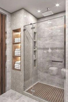 29 Popular Bathroom Shower Tile Design Ideas And Makeover. If you are looking for Bathroom Shower Tile Design Ideas And Makeover, You come to the right place. Here are the Bathroom Shower Tile Design. Bathroom Design Luxury, Bathroom Layout, Modern Bathroom Design, Bathroom Shelves, Bathroom Organization, Bathroom Storage, Washroom Design, Bathroom Mirrors, Contemporary Bathrooms