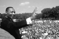 """Iconic photos documenting the life of Martin Luther King Jr. in full color, presented by Getty Images. King while giving his """"I Have a Dream"""" speech to a huge crowd gathered during the March on Washington for Jobs and Freedom in Oprah Winfrey, Afro, Dr Martins, Civil Rights Movement, Iconic Photos, I Have A Dream, King Jr, Black History Month, The Life"""