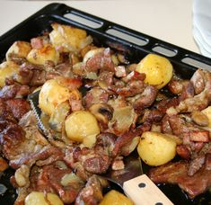Shrimp Recipes Easy, Meat Recipes, Gluten Free Recipes, Cooking Recipes, Hungarian Recipes, Pot Roast, Bacon, Pork, Easy Meals