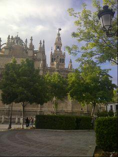 383. Cathedral, Alcázar and Archivo de Indias in Seville (1987) in Sevilla, Andalucía