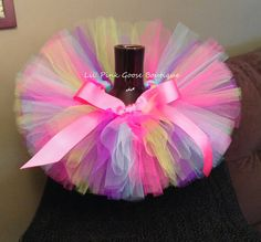 love the colors and the big bow! BIRTHDAY GIRL Tutu, Birthday Tutu, Colorful Tutu, Rainbow Tutu, Infant Tutu, Tutus for Children, Newborn Tutu, 1st Birthday Tutu, Tutu