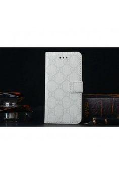 Coque Cuir iPhone 6 Gucci,étui luxe pour iPhone6 -blanc
