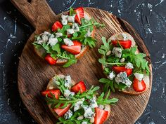 By Tiffany Ludwig These tart, salty and assertive flavors of Gorgonzola Piccante are a wildly delicious pairing for fresh strawberries. The season is just beginning here in New York for local strawberries, and it's worth going out of your way for some. We prepared this recipe with our favorite Zabar's olive oil from our pantry department. Our fresh baguettes are baked daily at the bread counter. Plus Zabar's cheese counter has a sale on now for Gorgonzola Piccante at our website! Blue Cheese…