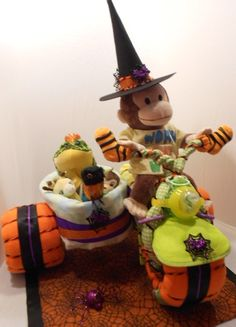 Halloween Diaper Cake....Motorcycle with Side Car