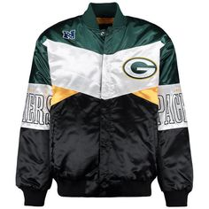 NFL San Green Bay Packers Sports By Carl Banks Green Shout Out Satin Jacket #GIII #SanFrancisco49ers