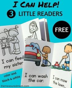 Free I Can Help printable books - The Measured Mom - - Free printable emergent readers about chores for kids. Kids Reading Books, Reading Resources, Reading Activities, Literacy Activities, Teaching Reading, Guided Reading, Reading School, Phonics Reading, Free Reading